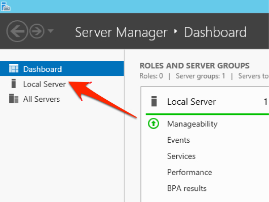 Windows Server 2012 Server Manager screen seen on install of Lasso Server 9.3